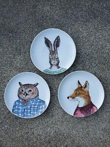 "Kozlowski  Dapper Animal Plate /""HARE/"" CHRISTMAS HOLIDAY  ***NEW*** West Elm  R"