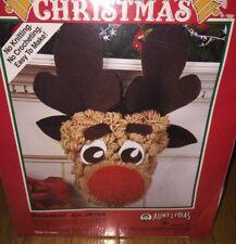 WonderArt Aunt Lydia Christmas Felt Jug Art Kit Reindeer K154 USA New Sealed