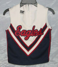 Vintage Real Cheerleader EAGLES Uniform 2 Piece Top Skirt