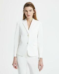 NWT Theory  Classic Shrunken Double Stretch Cotton Blazer Jacket Size 10 White