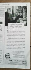 1947 Rock of Ages Barre granite  family burial monuments mean children ad