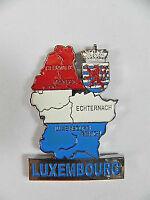 Luxemburg Luxembourg Metall Magnet Umriß Landkarte,Souvenir,Neu