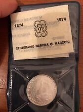 Moneta 500 lire argento 1974 centenario nascita marconi