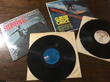 "2 LPs, Dick Dale & Del-Tones SURFER'S CHOICE, The Ventures ""SURFING"" Pipeline"