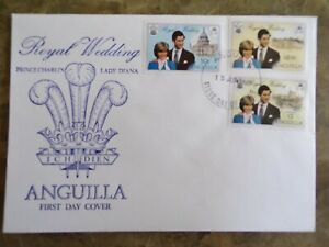 Anguilla 1981 Royal Wedding First Day Cover, SG 464-466
