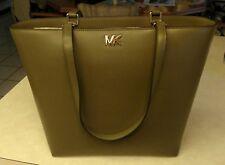 NWT New Michael Kors Handbag Mott Medium Tote Bag Olive Green Leather Bag