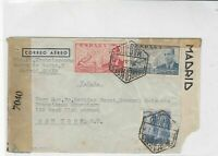 spain  1944 censor stamps cover ref 19320