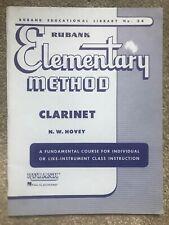Rubank 34 Elementary Method Clarinet Instruction Book Nw Hovey Hal Leonard