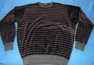 VINTAGE MEN'S  POLO by RALPH LAUREN  TERRY CLOTH  VELOUR STRIPED PULLOVER XL  HS