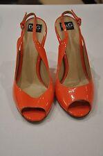 Dolce & Gabbana Patent Orange Heels Size 38 (UK 5)