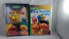 Sesame Street - Sing Yourself Silly / Sings Karaoke DVD LOT of 2