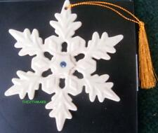 Lenox 2004 Blue Crystal Jeweled Snowflake Holiday Ornament NEW IN BOX RETIRED