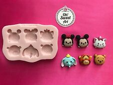 TSUM TSUM DISNEY  Silicone Mold Food Cake Decoration toppers soap cupcakes FDA
