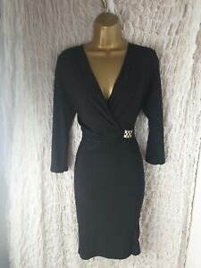 New Jane Normal Size 12 Black Stretch Smart Party Evening Formal Occasion Dress