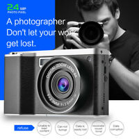 4.0-Inch 12X Optical Zoom 1080P HD IPS 24MP Digital SLR Camera Video Recorder