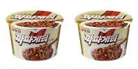 Korean Instant Black Bean Sauce Noodle NONGSHIM Chapagetti 2pack Cup Ramyun