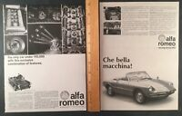 Lot of 2 ALFA ROMEO SPIDER Original Vintage Full Page Print Advertisment