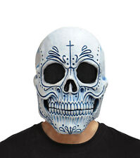 Latex Skull Mask Day of the Dead Mens Overhead Scary HALLOWEEN Deluxe Masque NEW