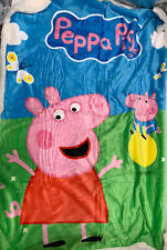 Peppa Pig Plush Sherpa Blanket Girls Pink New Without Tags