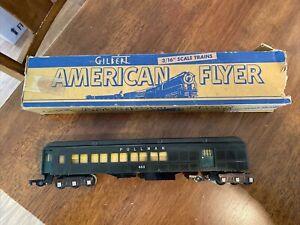 Vintage AMERICAN FLYER #653 PULLMAN PASSENGER CAR Train Trains 653 Black + box
