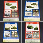 NATO Poster collection x4 - Cold War tank / missile launcher reconnaissance