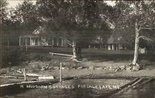 Portage Lake ME Bridgham Cottages c1950s Real Photo Postcard