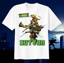 TMNT Teenage Mutant Ninja Turtles Custom T-Shirt Birthday Personalize Dom Mike