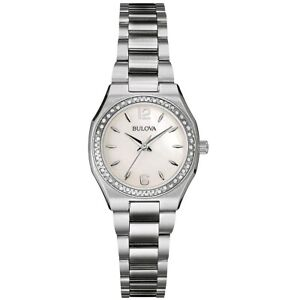 Bulova Uhr 96R199 Damenuhr Edelstahl Silber Perlmutt Watch Women NEU & OVP
