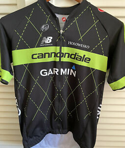 Men's CASTELLI CANNONDALE GARMIN TEAM 2.0 JERSEY FULL ZIP GARMIN Sz XXL