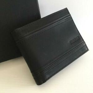 Kenneth Cole Reaction Gents  Passcase Wallet Black With RFID Protection New