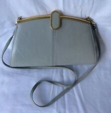 Vintage,Greyish,Genuine Leather Handbag with Clasp,detachable shoulder strap
