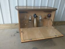 VINTAGE RETRO UNIQUE SMALL WOODEN DRINKS COCKTAIL CABINET HOME BAR STORAGE UNIT