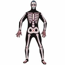 """DAY OF THE DEAD DISAPPEARING MAN, HALLOWEEN FANCY DRESS COSTUME, CHEST 42"""" #DE"""