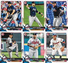 2018 Bowman Braves Team Set (Vets, RCs) 6 cards w/ 4 RCs including Albies