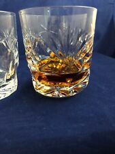 Waterford Crystal Pair(2) of Whisky Old Fashioned Retired Ashling Pattern c 1954
