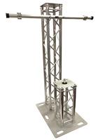 6.56FT 2 Meter Aluminum Plasma TV Mount +Speaker Stand DJ Lighting Truss Tower