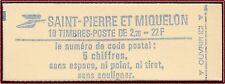 1986 SAINT PIERRE ET MIQUELON Carnet C 464** Liberté de Gandon, TB, Non ouvert