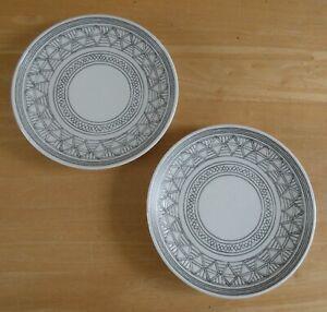 "Royal Doulton Ellen Degeneres 6.25"" Charcoal Grey Side Plates x 2 (C) (BNWOT)"