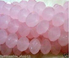 4x6mm pink jade Crystal Gemstone Loose Beads 300pcs