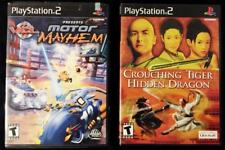PS2 PlayStation 2 LOT of 2 Games:  Motor Mayhem & Crouching Tiger Hidden Dragon