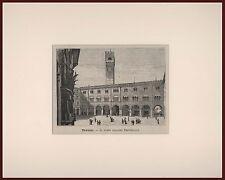 Treviso - Palazzo Provinciale L'Italia Geografica Illustrata xilografia 1891