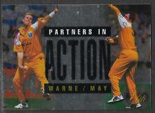 FUTERA 1996 CRICKET ELITE SHANE WARNE & TIM MAY PARTNERS CARD No 56