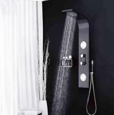 Nero Pannello doccia Colonna Torre con corpo Jet e cascata bagno doccia SP2