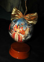 Barbie Decoupage Ornament w/Wooden Ornament Stand 97 Retired Vintage Collectible