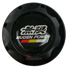 Black Engine Oil Filler Fuel Cap Tank Cover Aluminum Mugen Emblem For Honda