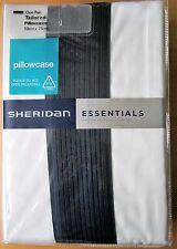 SHERIDAN ESSENTIALS Tailored Pillowcase PAIR 50x75cm AMICONI MIDNIGHT New