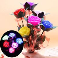 LED Rose Night Light Valentine's Day Emulation Rose Landscape Flower Beam Lamp