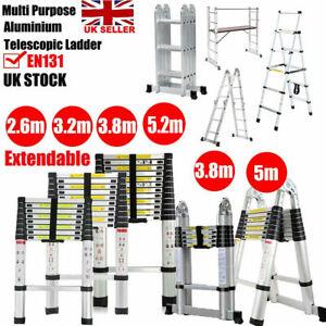 2.6M-6M Aluminium Portable Folding Telescopic Ladder Step Ladder Multi-Purpose