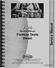 Ford Dexta Tractor Service Manual FO-S-FDN DEXTA