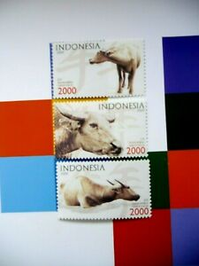 INDONESIA 2009 Cow Cattle MNH set Unused stamps